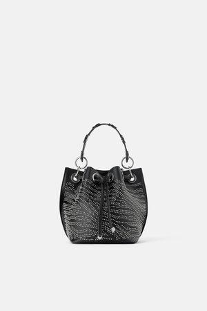 Zara Borsa a sacca con micro borchie fc46f033ee1