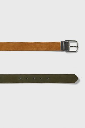 Zara Uomo Cinture - Cintura in pelle double-face