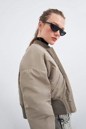 Zara Cropped bomber jacket