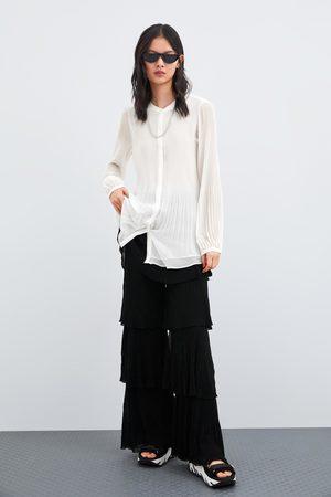 Zara Donna Camicie - Camicia plissé