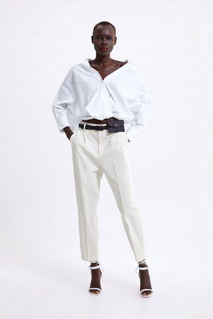 Zara Pantaloni pince marsupio