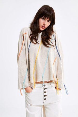 Zara Felpa in maglia ricamo frange