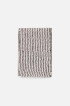 Zara Foulard di lino a righe