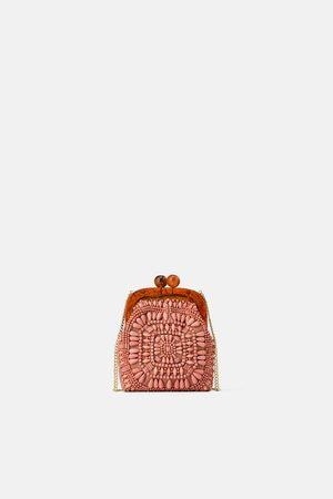 Zara Mini borsa a tracolla con chiusura a scatto e perline