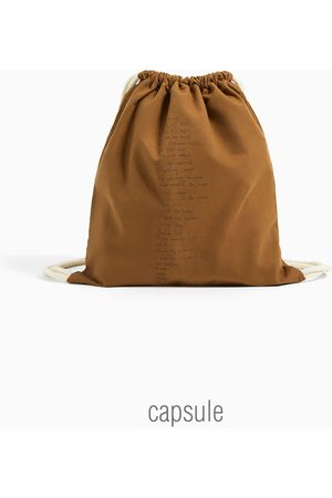 Zara Borsa a secchiello cotone stampa