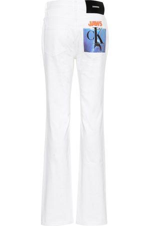 Calvin Klein Jeans a vita alta con stampa