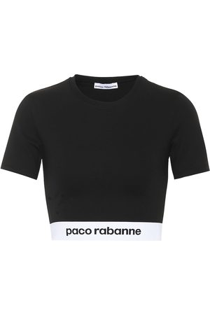 Paco rabanne Top cropped in jersey stretch