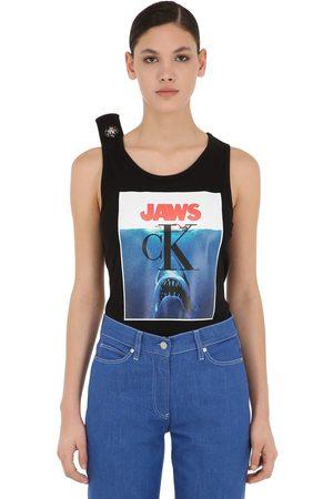 Calvin Klein Tank Top In Jersey Di Cotone