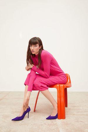Zara Vestito in maglia bicolore