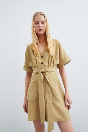 Zara Donna Vestiti - Vestito con bottoni e tasche