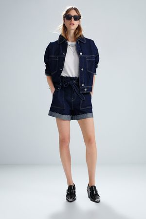 Zara Shorts denim con cintura