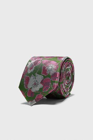 Zara Cravatta larga jacquard stampa floreale