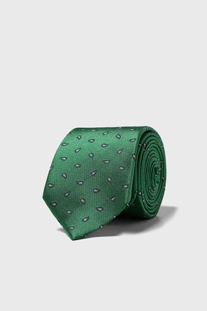 Zara Cravatta larga jacquard paisley