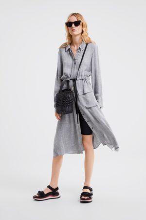 Zara Vestito chemisier con tasche
