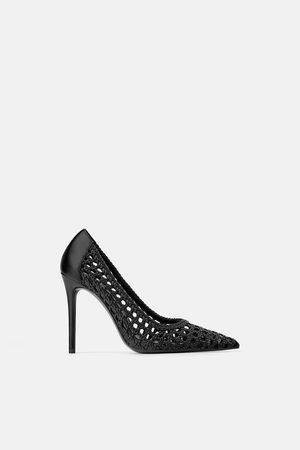 Zara Scarpe con tacco intrecciate