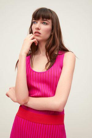 Zara Top in maglia bicolore