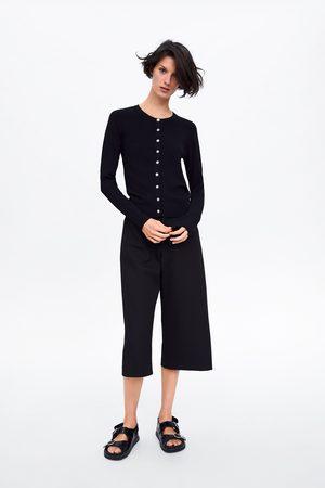 Zara Cardigan strutturato con bottoni gioiello