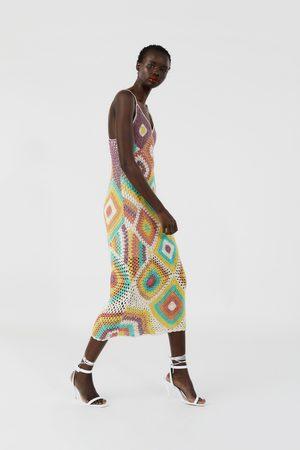 Zara Vestito crochet colorato