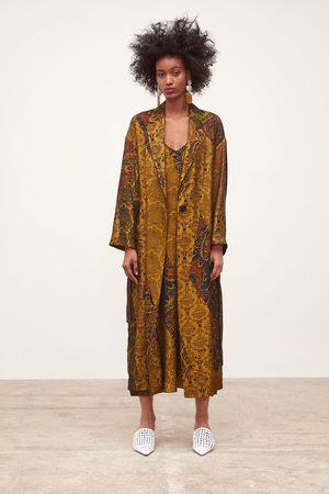 Zara Cappotto lungo stampato