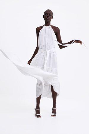 Zara Vestito lungo in lino