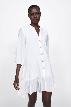 Zara Vestito texture con volant