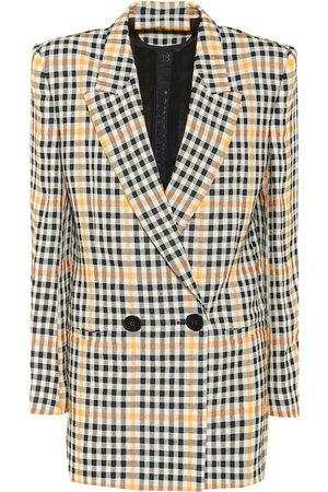 PETAR PETROV Donna Outdoor jackets - Blazer Jina a quadri in lino