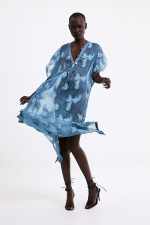 Zara Tunica semitrasparente ricami
