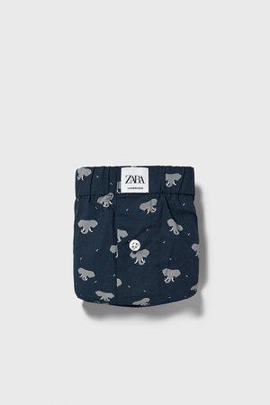 Zara Boxer popeline stampa elefanti