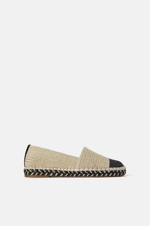 comprare on line 30a86 365e0 Espadrillas in materiali naturali con punta a contrasto