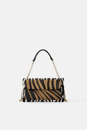 Zara Borsa a tracolla pochette in pelle stampa animalier