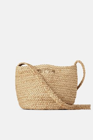 Zara Borsa a cesta di iuta naturale