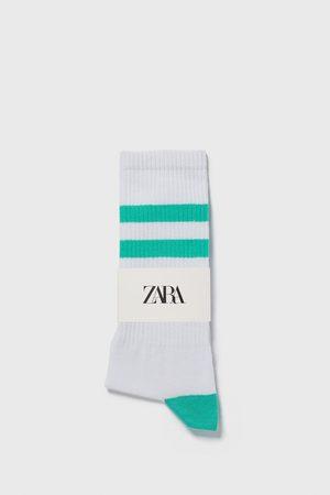 Zara Calzini a costine strisce colorate