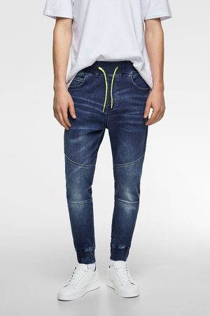 Zara Pantaloni jogger soft denim combinati