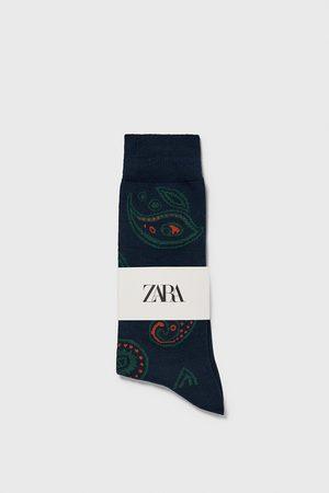 Zara Calzini jacquard paisley