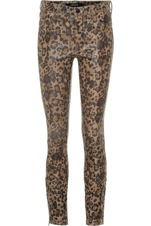 J Brand Leggings in pelle a stampa