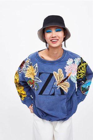 Zara Felpa con abbinamento di tessuti