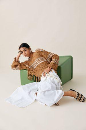 Zara Studio pullover bicolore frange edizione limitata