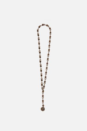 Zara Long coin necklace