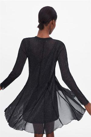 Zara Vestito semitrasparente brillante