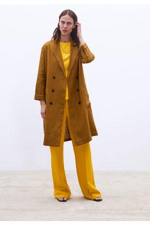Zara Cappotto lungo lino