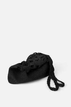 Zara Borsa a secchiello con filo intrecciato