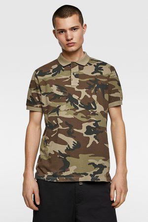 Zara Camouflage print polo shirt