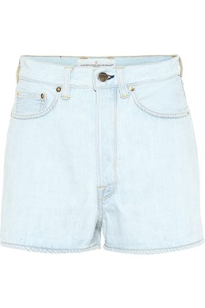 Golden Goose Shorts Judy a vita alta in denim