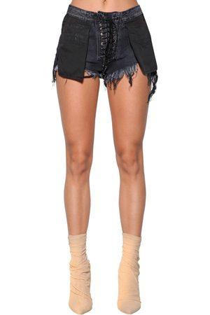 "UNRAVEL Donna Pantaloncini - Shorts ""stone 10 Reverse"" In Denim"