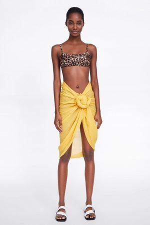 Zara Top bikini stampa animalier