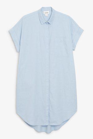 Monki Oversized shirt dress - Blue