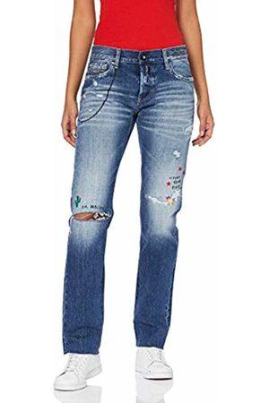 Replay Ilariya Jeans Straight Donna, Blu W30/L28