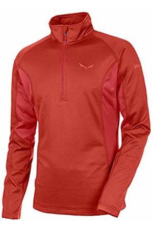 Salewa Puez PL M L/S Tee - Maglietta Manica Lunga da Uomo, Colore Rosso