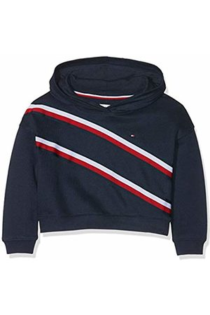 Tommy Hilfiger Knitted Tape Hoodie Cappuccio Bambina, Blu 104