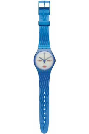Swatch SUOZ107 - Orologio da polso da donna, cinturino in plastica colore blu